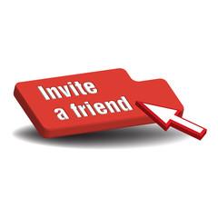 Invite red button