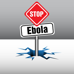 Stop Ebola signpost