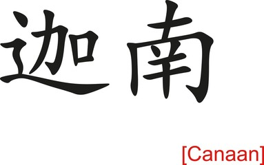 Chinese Sign for Canaan