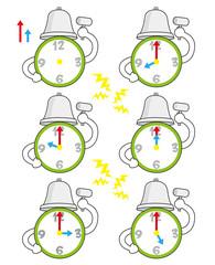 目覚まし時計の時間