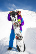 canvas print picture - Snowboarder