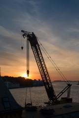 Stavanger Crane Silhouette
