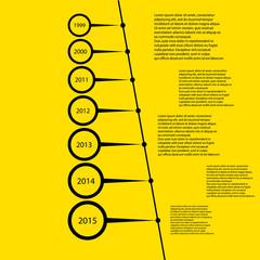 timeline simple design template vector