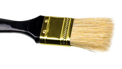 black brush to paint isolated on white background