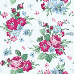 Vintage Floral Background - seamless pattern for design