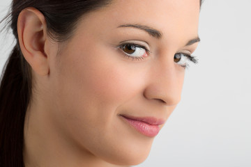 Close up  of thoughtful woman