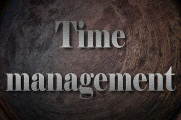 Time management text on Background