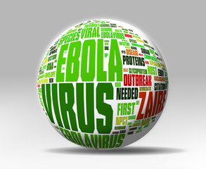 Ebola Virus concepts isolated