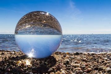 Glas am Meer