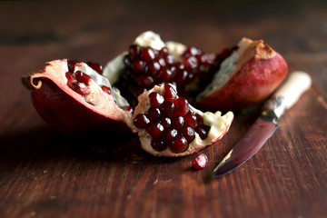 Fresh juicy ripe pomegranate