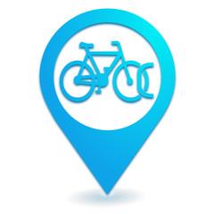 stationnement vélo sur symbole localisation bleu