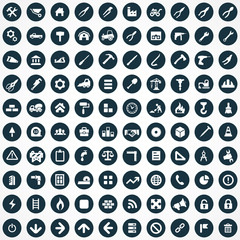 100 construction icons.