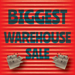 Biggest warehouse sale red template