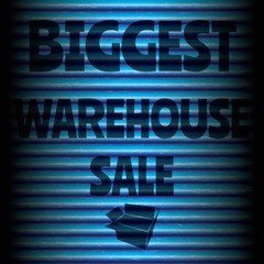 Biggest warehouse sale blue template