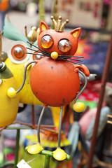 décoration de jardin chat