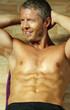 Handsome fitness model