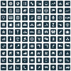 100 economy icons.