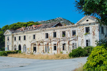Abandoned hotel after war in Croatia
