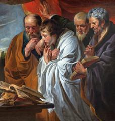 Mechelen - Four Evangelists paint in church of st. John