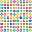 100 ecology icons.