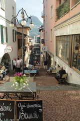 Outdoor cafe in Lugano