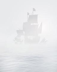 columbus in mist