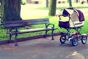 Pram in the park