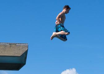 Sprung in den Himmel