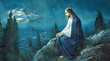canvas print picture - The prayer of Jesus in the Gethsemane garden.