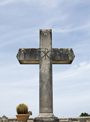 Cross on cemetary.