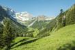 canvas print picture - Urlaub in den Bergen