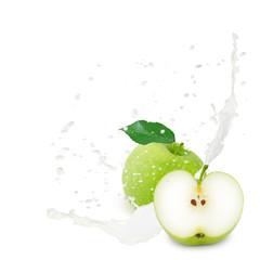 Milk splash apple