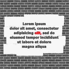 Brick Wall with Place for Text