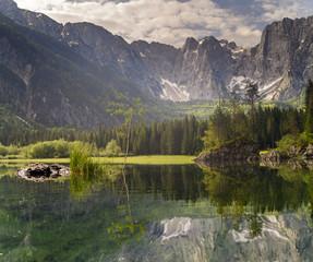 Laghi di fusine-górskie jezioro,Alpy włoskie