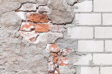 Mauerwerk, Sanierung, Hintergrund, grunge, Renovierung