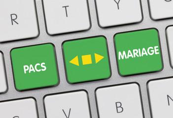 Mariage ou PACS. Clavier