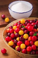 Fresh cherry plums
