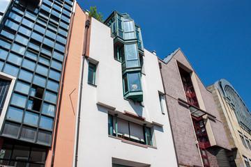 Houses in Saalgasse street in Frankfurt