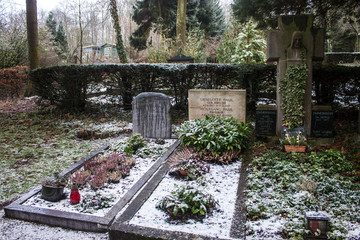 Tomb of Wolfgang Paul on Poppelsdorf cemetery in Bonn