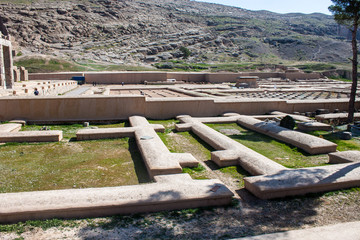 Ruins of ancient Persepolis, Iran. Treasury.