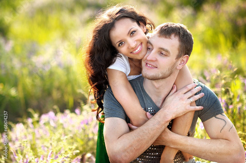canvas print picture portrait of a beautiful couple in love