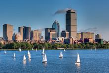 "Постер, картина, фотообои ""Boston Skyline and Sailboats"""