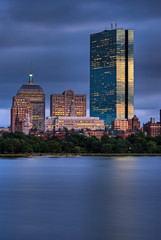 Blue Gold Boston Sunset