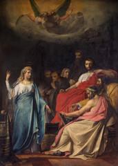 Mechelen - Paint of Sermon of st. Katharine in st. Johns church