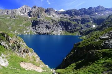 Lac en montagne, paysage