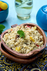 Arabian salad with couscous tabbouleh