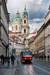 old scenic street of Prague