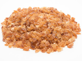 Cane sugar isolated on white