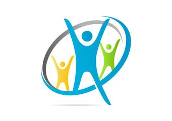 success healthy  logo association team