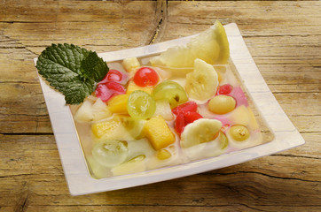 Macedonia de frutas Fruit salad Fruktsallad Salade de fruits